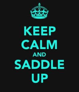 keep calm and saddle up